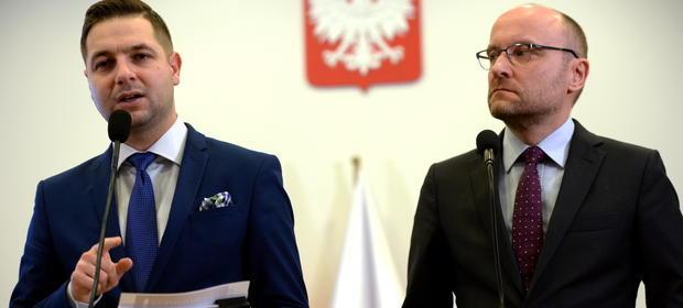 Patryk Jaki i Kamil Zaradkiewicz. Autorzy ustawy reprywatyzacyjnej