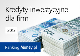 Kredyty inwestycyjne dla firm 2013. Raport Market Money