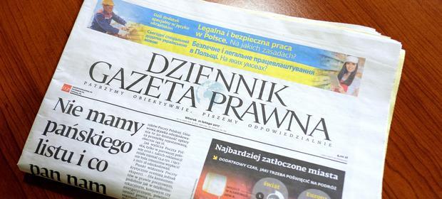 """Ryszard Pieńkowski jest jedynym włłaścicielem """"Dziennika Gazety Prawnej""""."""