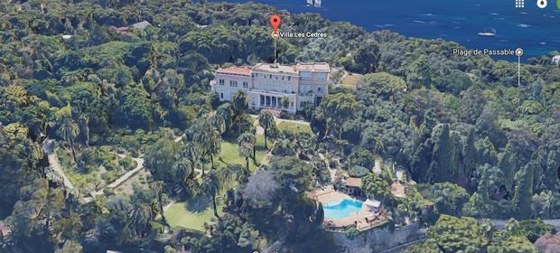 Luksusowa posiadłość Villa Les Cedres, położona na Lazurowym Wybrzeżu, na południu Francji.