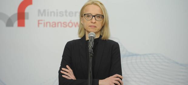Minister finansów Teresa Czerwińska nadzoruje aparat skarbowy państwa.