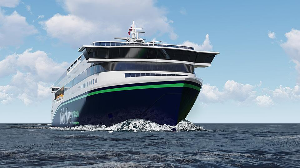 The Polish shipyard assembles the largest hybrid ferry in the world